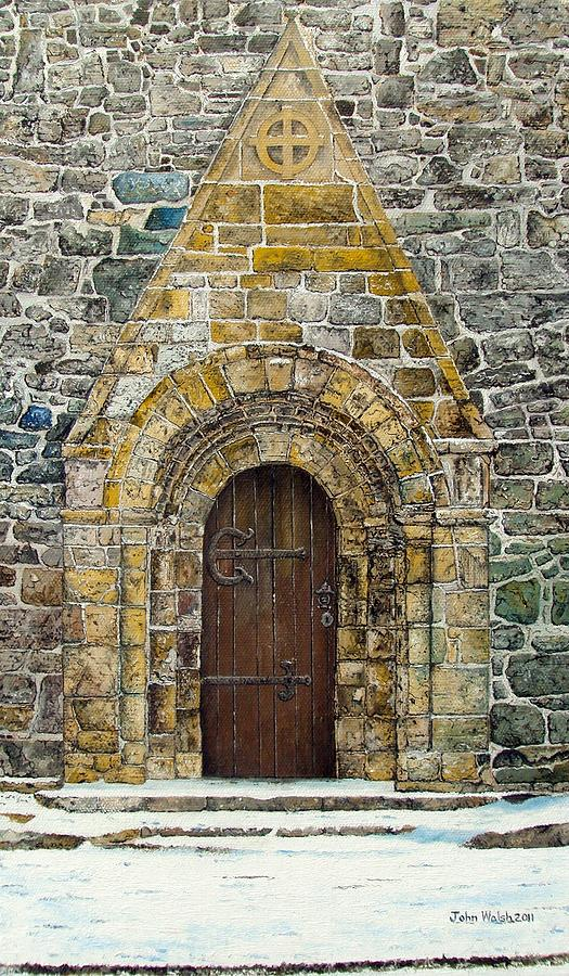 Doorway Painting - Portal Of St. Lachtain by John Walsh