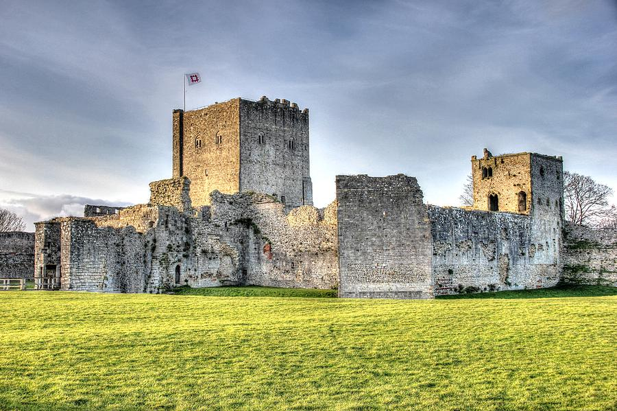 Portchester Photograph - Portchester Castle  by Peggy Berger