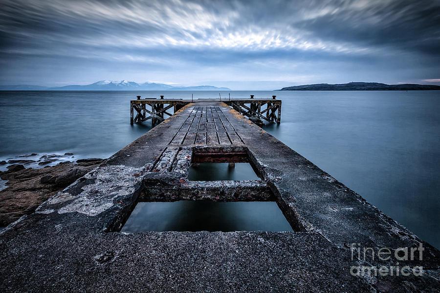 Ayrshire Photograph - Portencross Pier  And Views To Arran by John Farnan