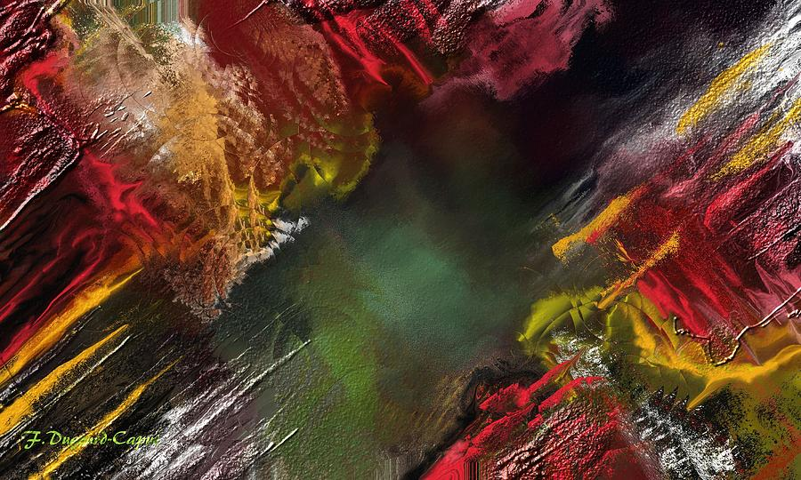 Abstract Digital Art - Portes Du Temps  by Francoise Dugourd-Caput