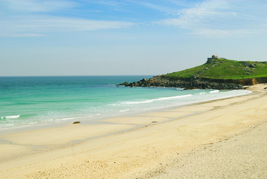 Tranquility Photograph - Porthmeor Beach At St. Ives, Cornwall by John Harper