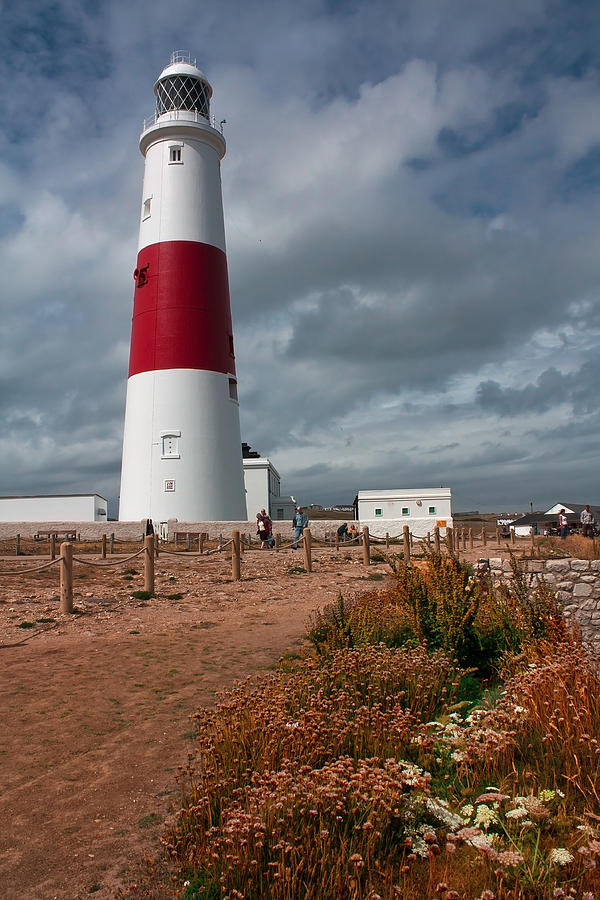 Lighthouse Photograph - Portland Bill Lighthouse by Shirley Mitchell