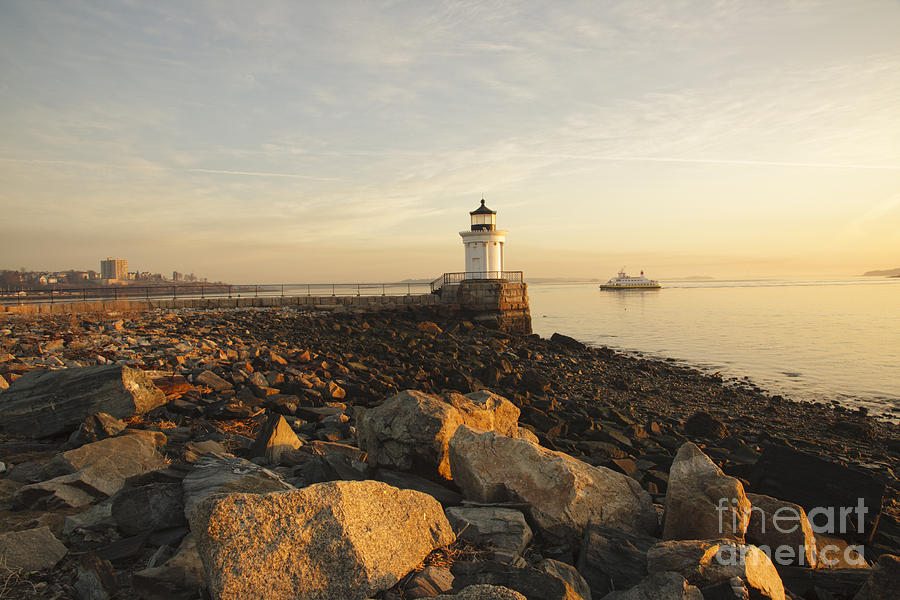 Atlantic Ocean Photograph - Portland Breakwater Light - Portland Maine by Erin Paul Donovan