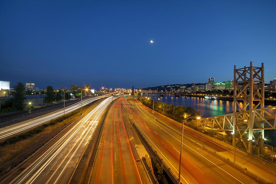 Portland Photograph - Portland City Blue Hour by David Gn