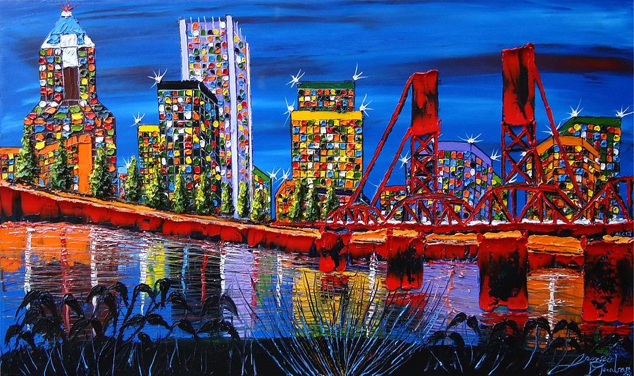 Painting - Portland City Lights 34 by Portland Art Creations