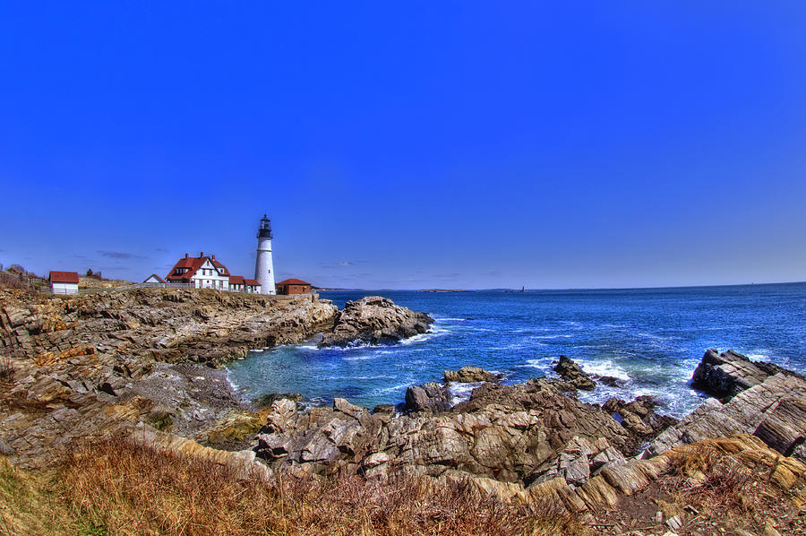 Atlantic Ocean Photograph - Portland Head Light 4 by Joann Vitali