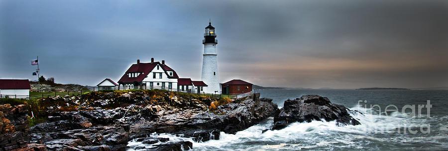 Portland Photograph - Portland Head Lighthouse 1 by Glenn Gordon