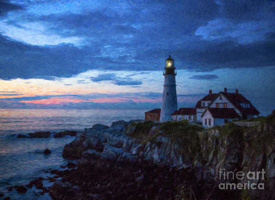Lighthouse Photograph - Portland Head Lighthouse by Diane Diederich