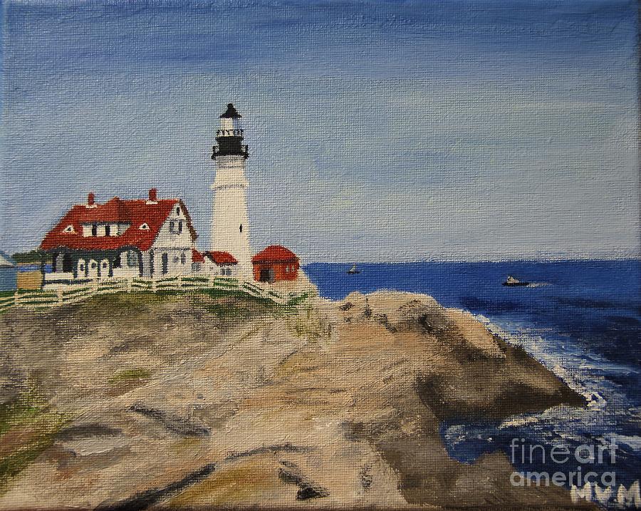 Portland Head Lighthouse in Maine by Marina McLain