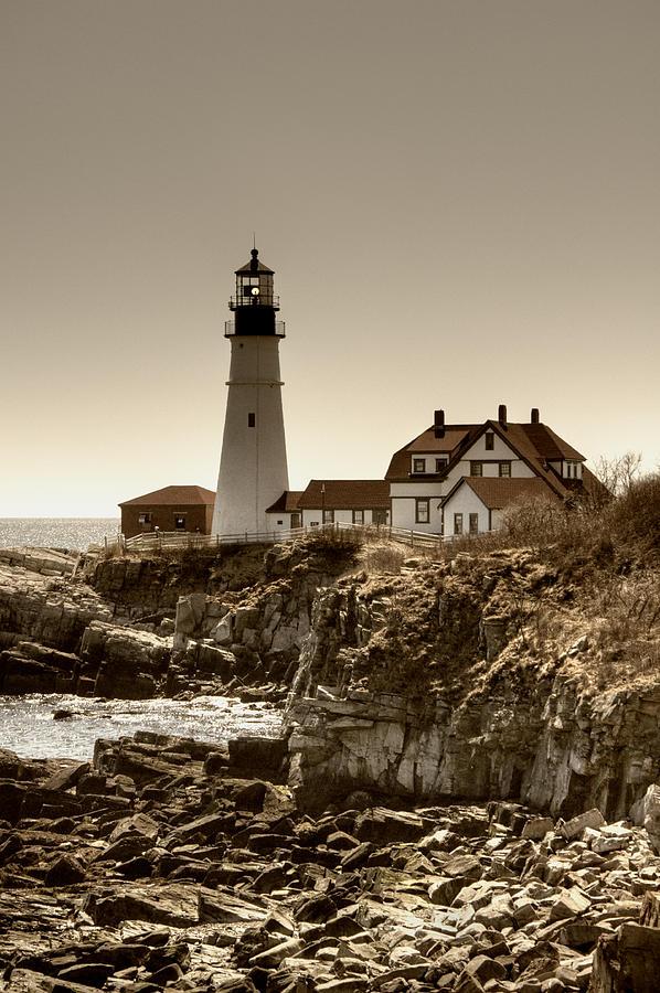 Atlantic Ocean Photograph - Portland Head Lighthouse by Joann Vitali