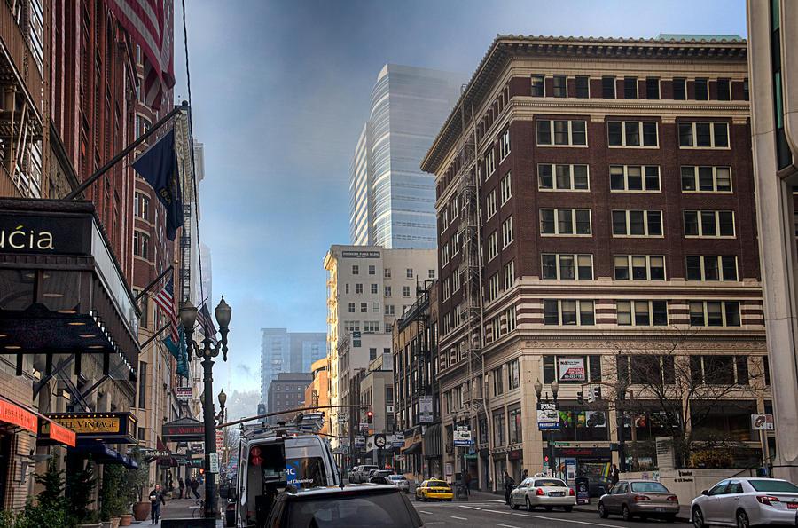 Portland Orgeon Photograph - Portland Hustle by Spencer McDonald