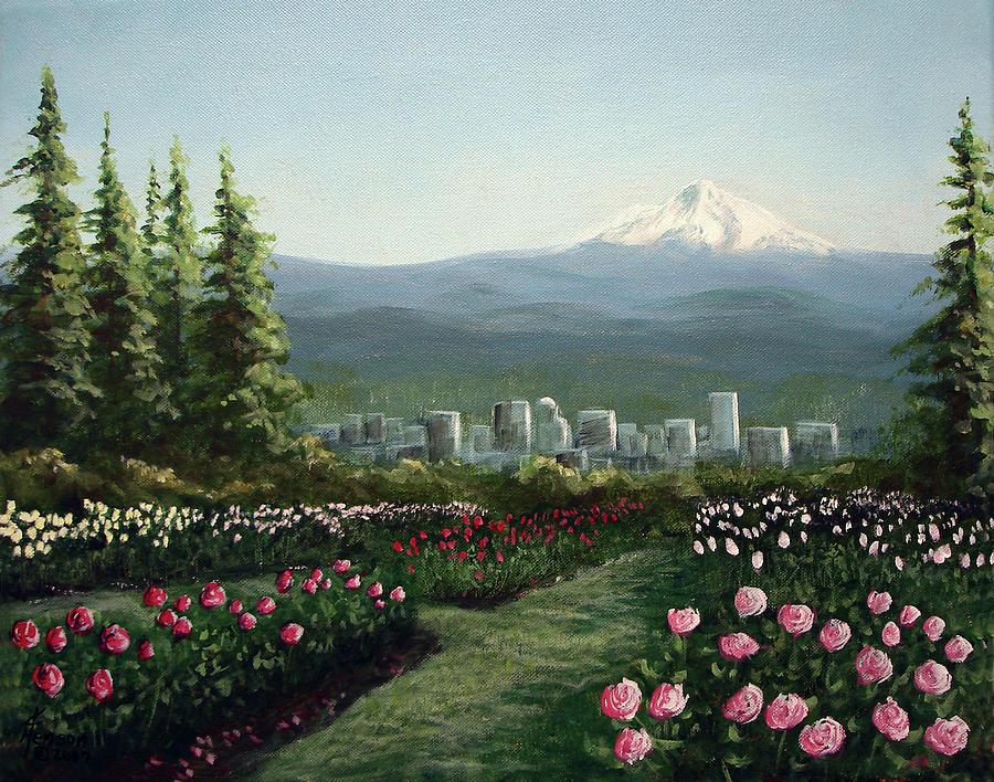 Portland Rose Garden Mixed Media By Kenny Henson