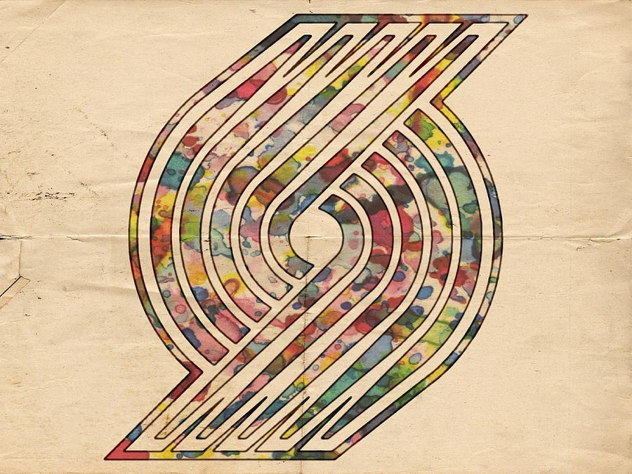 Portland Trailblazers Painting - Portland Trailblazers Poster Art by Florian Rodarte