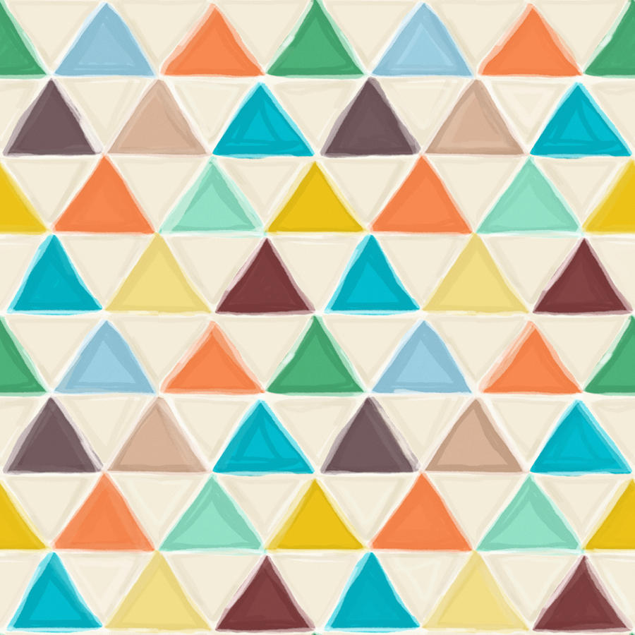Geo Drawing - Portland Triangles by MGL Meiklejohn Graphics Licensing