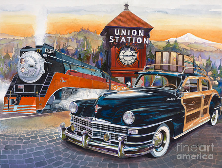 Portlands Union Station Painting by Mike Hill