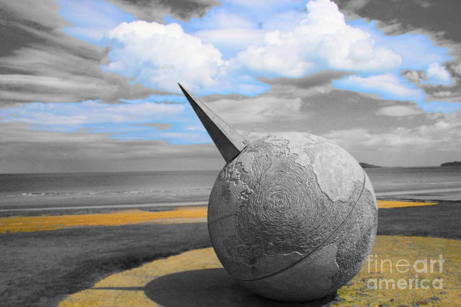 Landscape Photograph Photograph - Portmanuck Sphere Ireland by Jo Collins