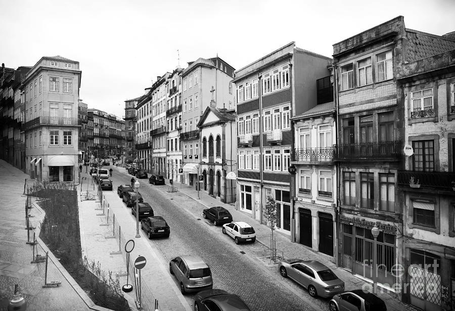 Parking Photograph - Porto Street Parking by John Rizzuto