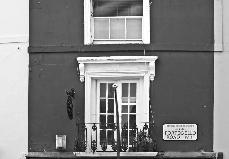 London Photograph - Portobello In Mono by Georgia Fowler
