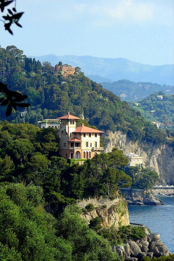 Portofino Photograph - Portofino Coastline by Carla Parris