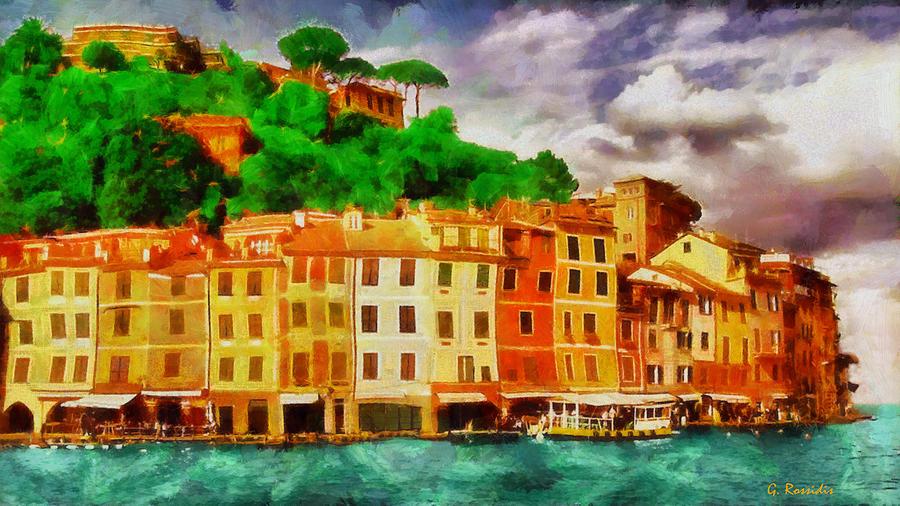 Portofino Painting - Portofino I by George Rossidis