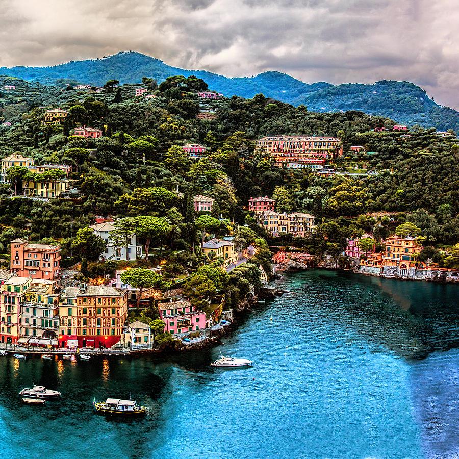 Portofino Italy 40 X 40 2 Of 3 Photograph by Paul James