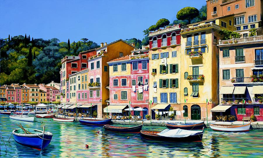 Portofino Painting - Portofino Sunshine Sold by Michael Swanson