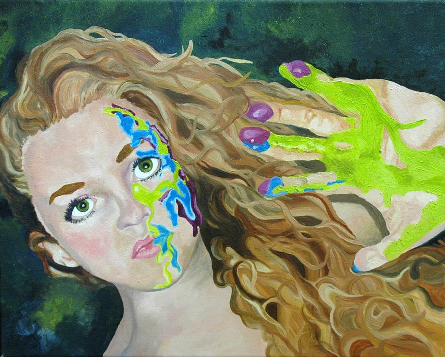 Girl Painting - Portrait  by Amanda Just