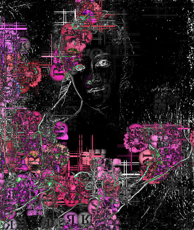 Portrait In Black - S01-02b Digital Art by Variance Collections
