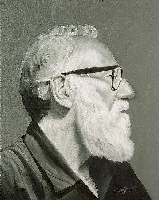 Portrait Painting - Portrait In Grisaille by Gary  Hernandez