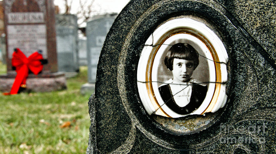 Cemetery Photograph - Portrait Of A Child by Mark Thomas