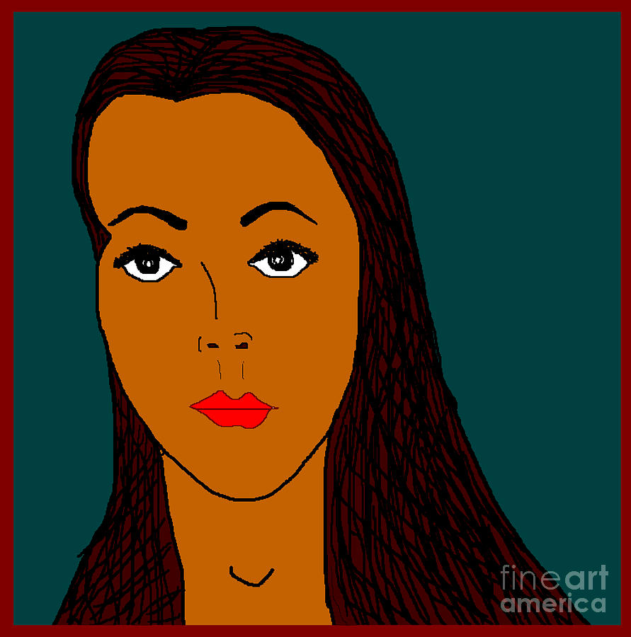 Portrait Digital Art by Meenal C