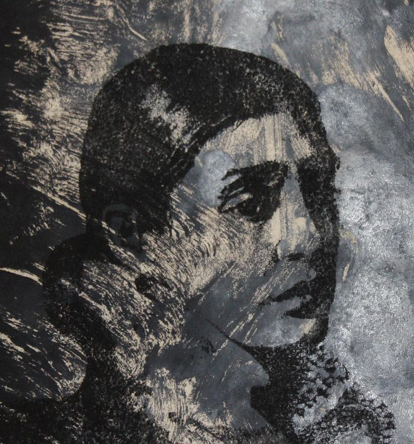 Portrait Monoprint Mixed Media By Rachel Hames