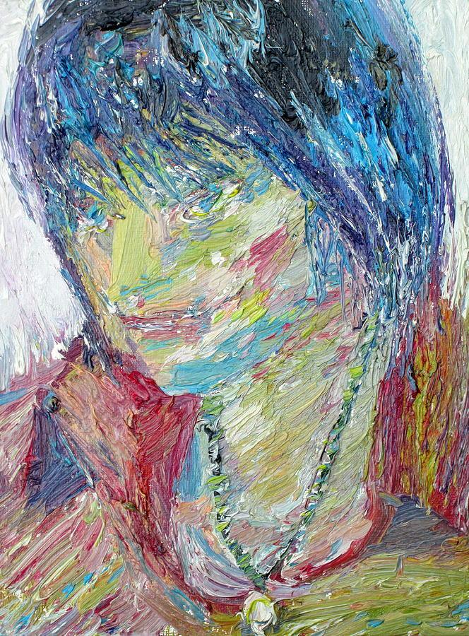Boy Painting - Portrait Of A Boy - Marcus by Fabrizio Cassetta