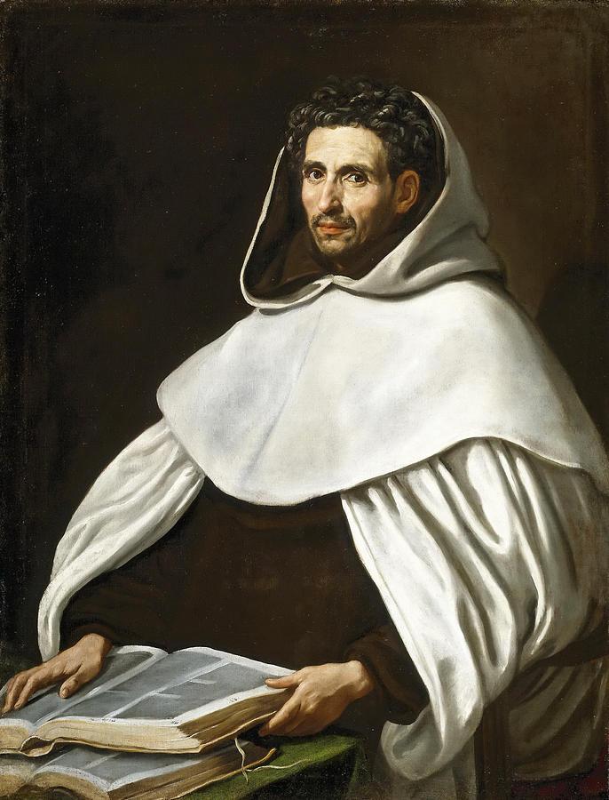 Luis Tristan De Escamilla Painting - Portrait Of A Carmelite by Luis Tristan de Escamilla