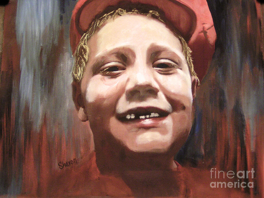 Boy Painting - Portrait Of A Con Artist by Sharon Burger