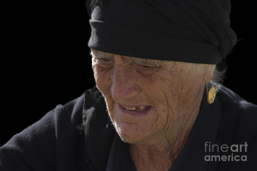 Heiko Photograph - Portrait Of A Fishermans Wife by Heiko Koehrer-Wagner