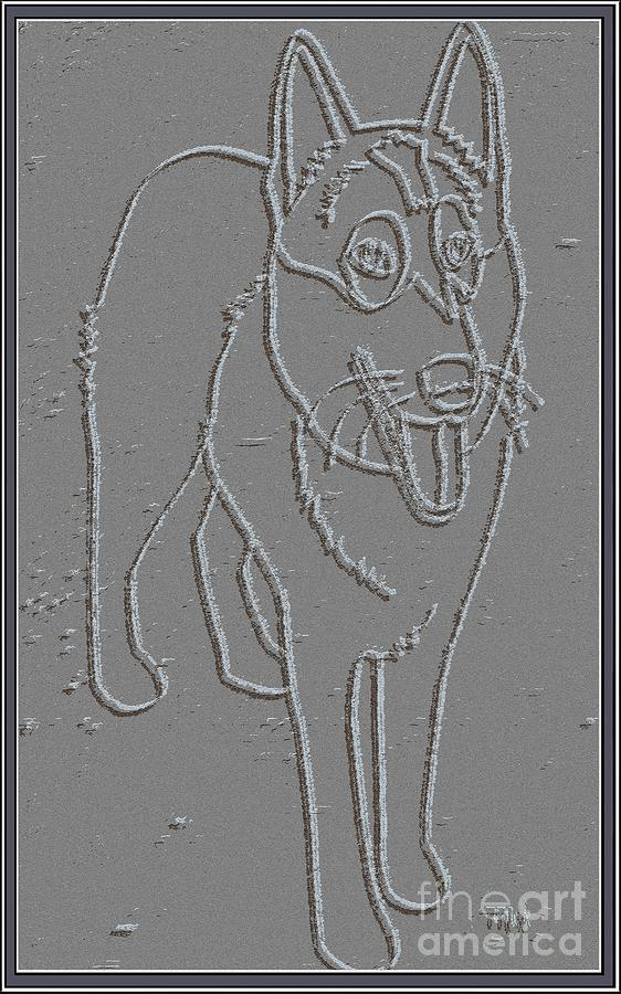 Pets Digital Art - Portrait Of A Friend Poaf00000001 by Pemaro