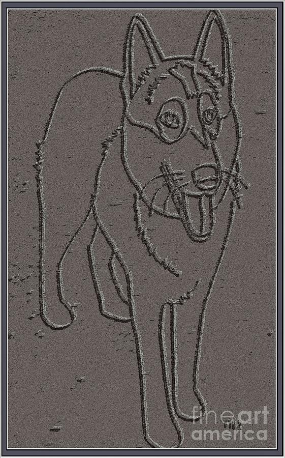 Pets Drawing - Portrait Of A Friend Poaf0000001 by Pemaro
