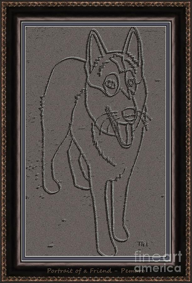 Pets Drawing - Portrait Of A Friend Poaf0000002 by Pemaro