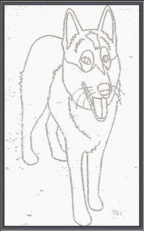 Pets Drawing - Portrait Of A Friend Poaf000001 by Pemaro