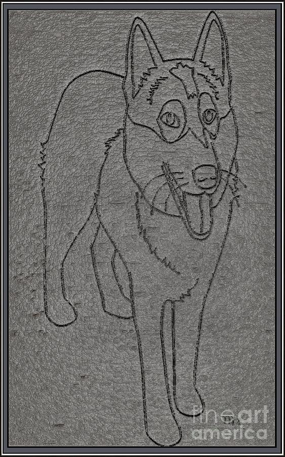 Pets Drawing - Portrait Of A Friend Poaf00001 by Pemaro
