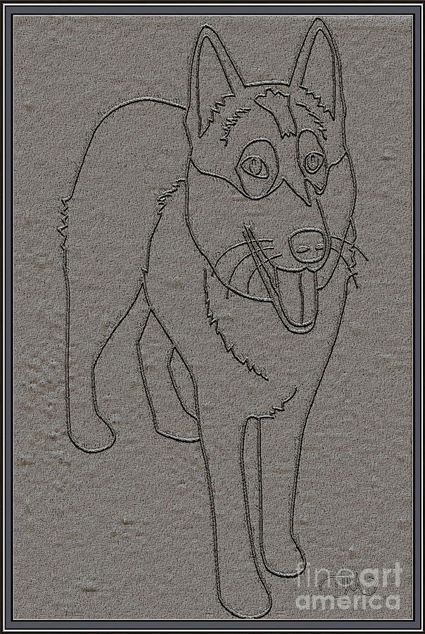 Pets Digital Art - Portrait Of A Friend Poaf0001 by Pemaro