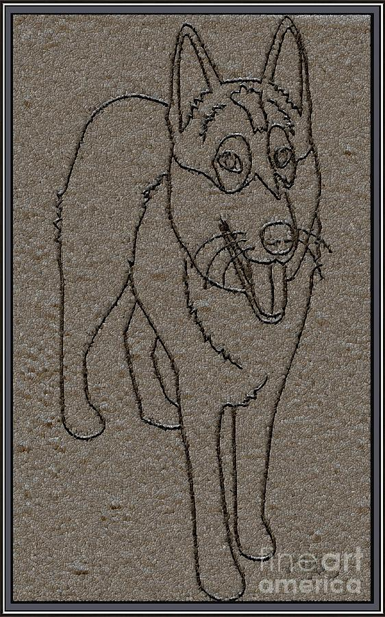 Pets Drawing - Portrait Of A Friend Poaf01 by Pemaro