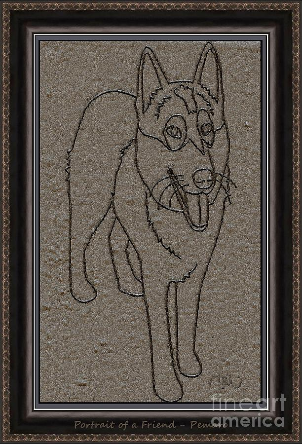 Pets Drawing - Portrait Of A Friend Poaf02 by Pemaro