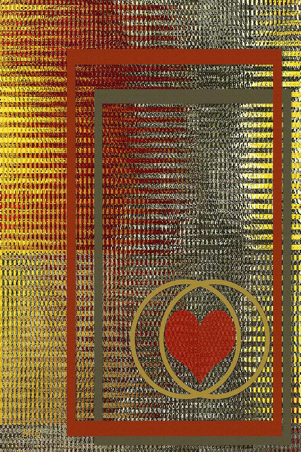 Valentine's Digital Art - Portrait Of A Heart by Ben and Raisa Gertsberg