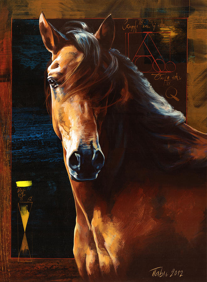 Horse Painting - Portrait Of A Horse by Dragan Petrovic Pavle