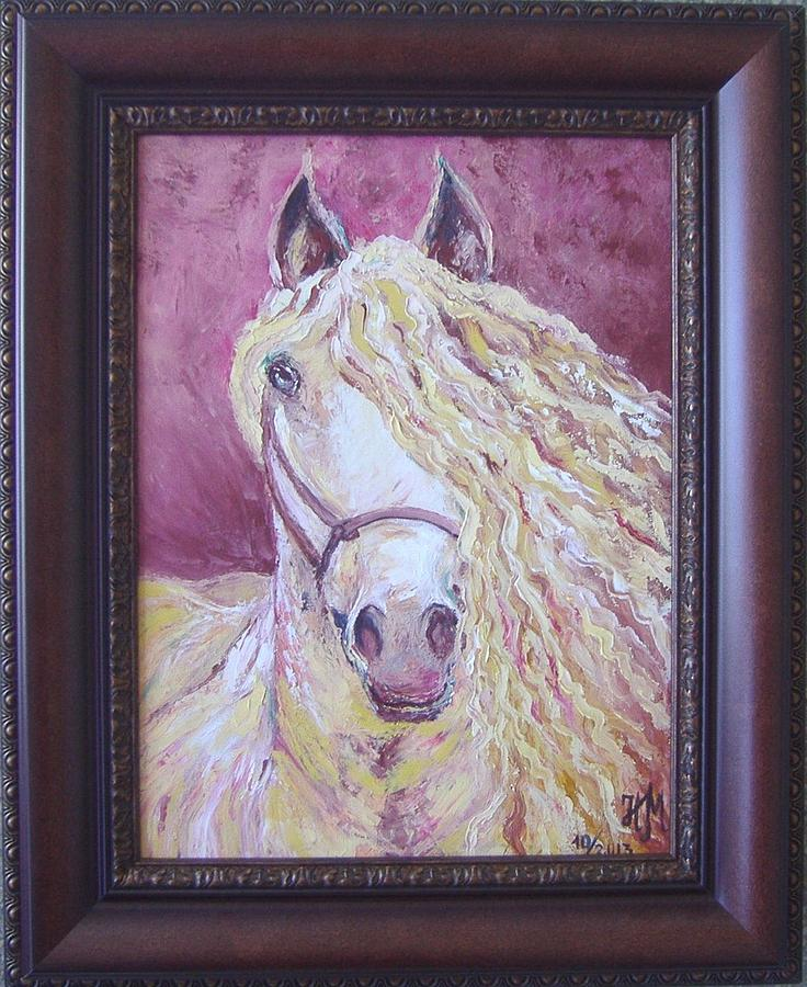 Framing Painting - Portrait Of A Horse by Nina Mitkova