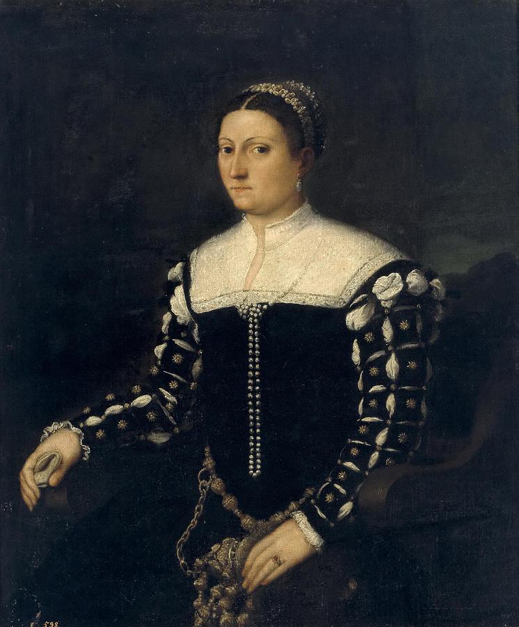 Antonio Badile Painting - Portrait Of A Lady by Antonio Badile