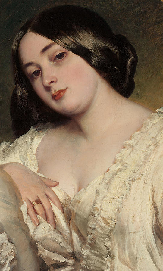 Portrait Of A Lady Painting - Portrait Of A Lady by Franz Xaver Winterhalter