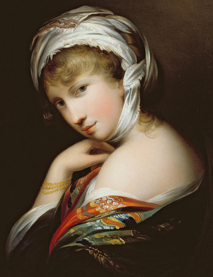 Female Painting - Portrait Of A Lady In Eastern Dress by English School